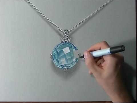 diy手绘画教程:如何画卡通可爱玫瑰; 快速手绘画-如何画海蓝宝石 手绘