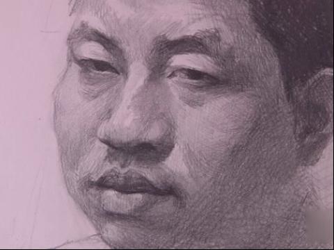 美术高考男青年素描头像(教学视频
