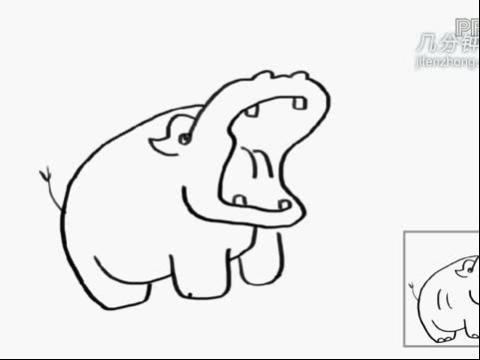 简笔画动物篇之河马 古田兔表情之愤怒的猪头