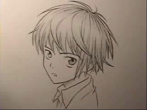 画中男孩的眼睛