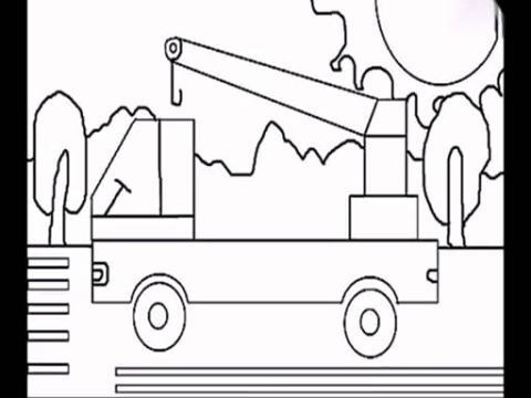 简单的儿童简笔画吊车的方法