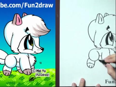 diy手绘画教程:如何画卡通狼(v2)