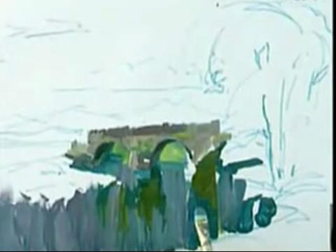 教你色彩水粉风景bflv水彩静物视频教程教学