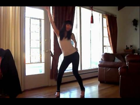自拍 漂亮美女跳舞185