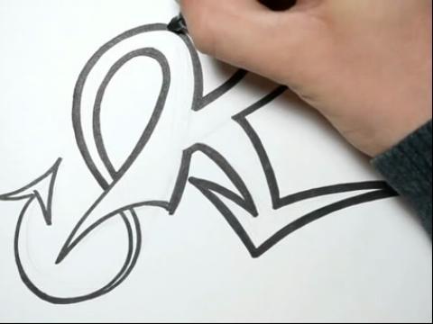 大写字母k纹身how (480x360)图片