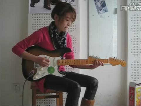 颜洁美女吉他视频country